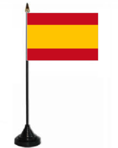 Spain Federal Desk / Table Flag with plastic stand and base.